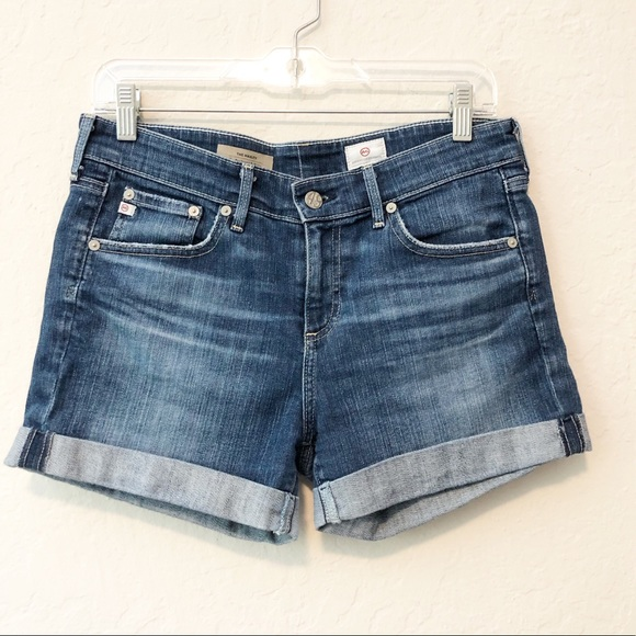 Ag Adriano Goldschmied Pants - AG the Hailey ex-boyfriend roll-up shorts